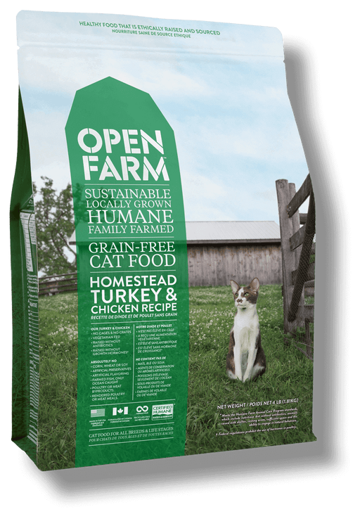 Open Farm Homestead Turkey & Chicken Recipe Grain Free Dry Cat Food
