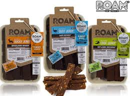 ROAM Venison, Ostrich or Crocodile Jerky Dog Treats, 5-oz