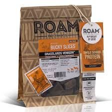 ROAM Freeze Dried Venison or Ostrich Single Ingredient Dog Treats, 2-oz