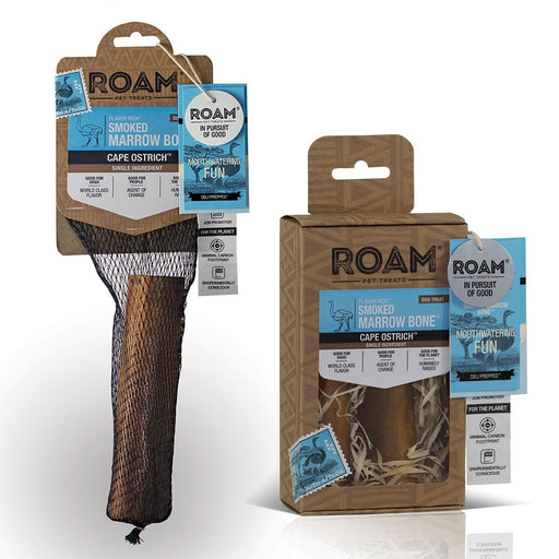 ROAM Smoked Ostrich Marrow Bone Dog Treats