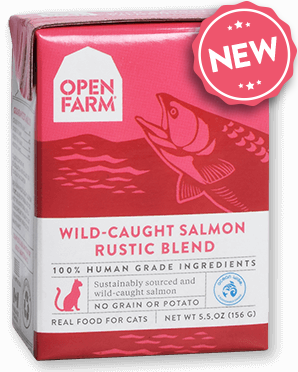Open Farm WILD-CAUGHT SALMON RUSTIC BLEND Grain Free for Cats