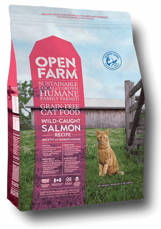 Open Farm Wild Caught Salmon Recipe Grain Free Dry Cat Food