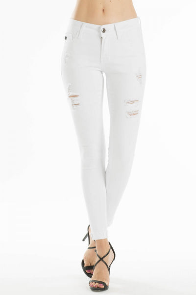 Buxton White Distressed Jean - Mcknz Boutique