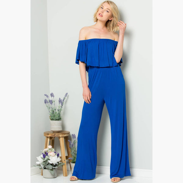 Jack-Rae Off-shoulder Ruffled Jumpsuit - Mcknz Boutique