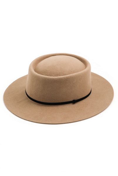Olivia Rae Wool Hat (Tan) - Mcknz Boutique