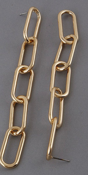 Gold Link Earrings