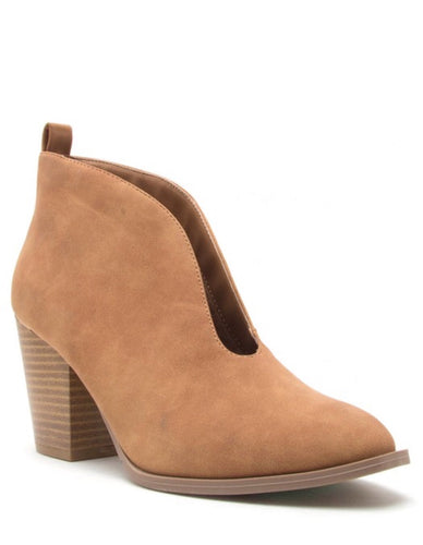 CAMPBELL TAN BOOTIE - Mcknz Boutique