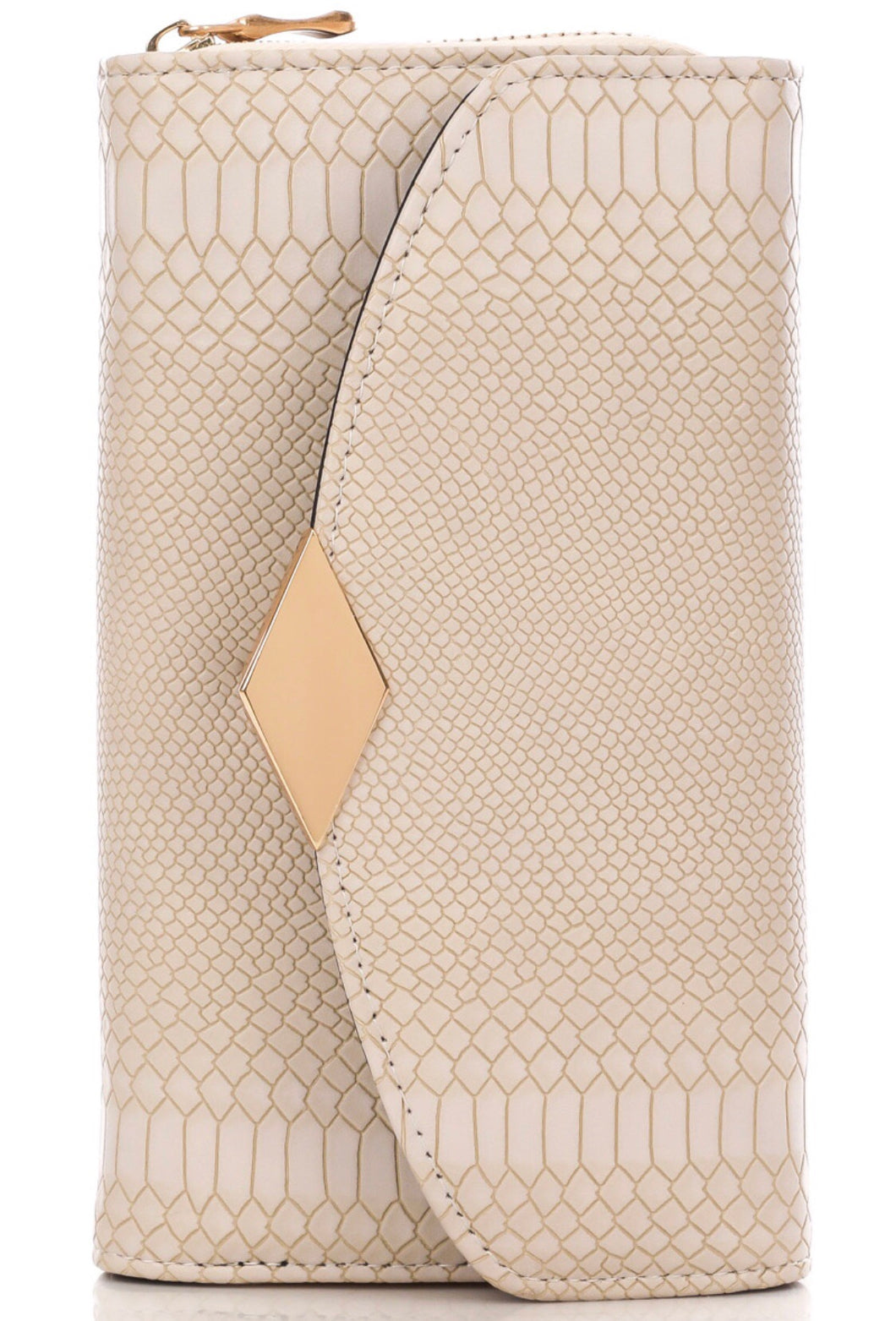 Faux Skin Wallet (Gold/Ivory) - Mcknz Boutique