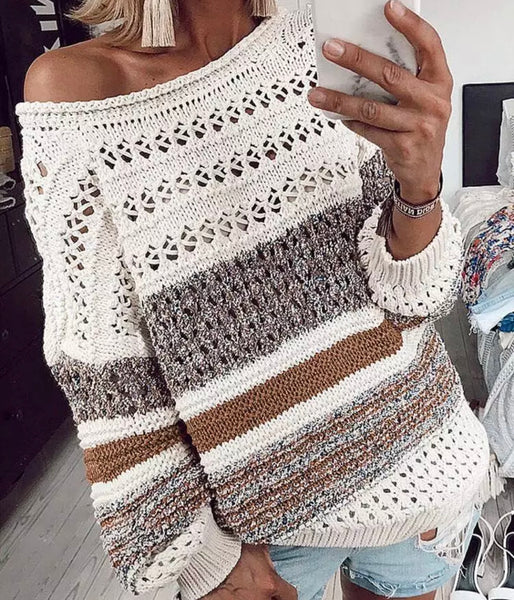Beige Dolman Sleeve Sweater