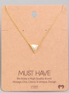 Layne Collection Triangle Necklace - Mcknz Boutique