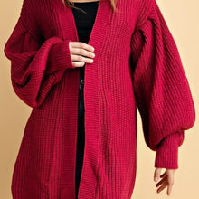 Puff Cardigan (Fuchsia) - Mcknz Boutique
