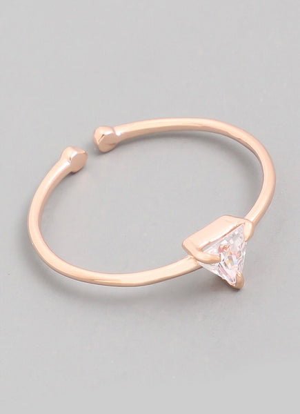 Triangle Stud Ring •ROSE GOLD• - Mcknz Boutique