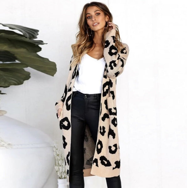 Lively Leopard Cardigan - Mcknz Boutique