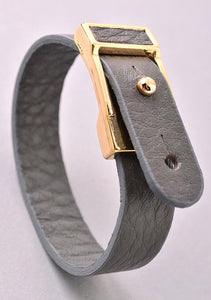 Grey Buckle Up Bracelet - Mcknz Boutique