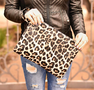 Stassi Leopard Clutch - Mcknz Boutique
