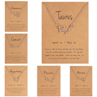 Dainty Zodiac Constellation Necklace - Mcknz Boutique