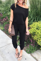 Travel In Style Jumpsuit (Black) - Mcknz Boutique