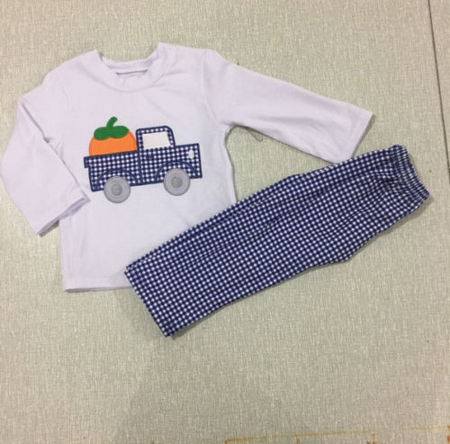 Pumpkin Truck Boys Set - AVA Boutique