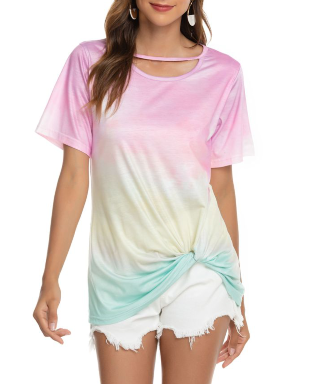 Tie dye Knot Tshirt - AVA Boutique