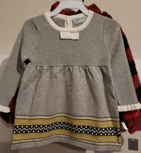 Gray Knit Sweater Dress - AVA Boutique