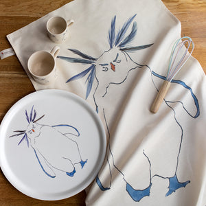 Rocky the Rockhopper Penguin  range rom Cluck Cluck! with tea towels, china and trays
