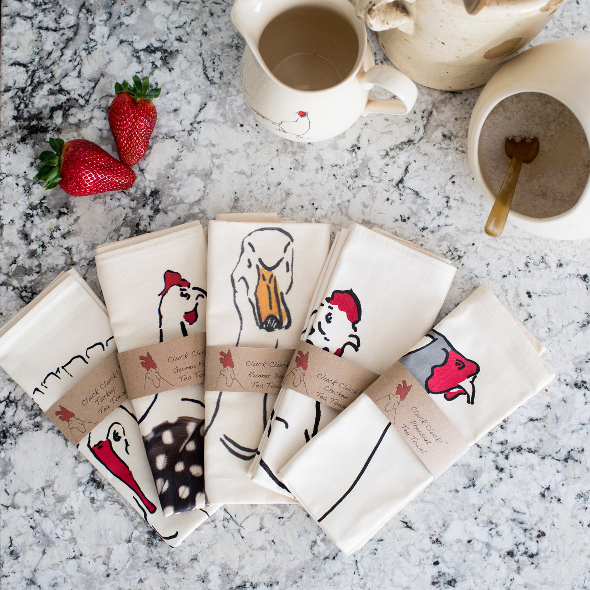Tea towels from Cluck Cluck