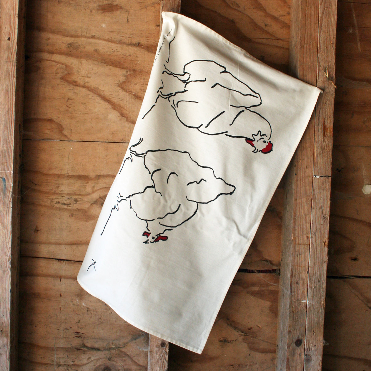 Hen Tea Towel