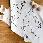 Load image into Gallery viewer, chicken tea towel from cluck cluck
