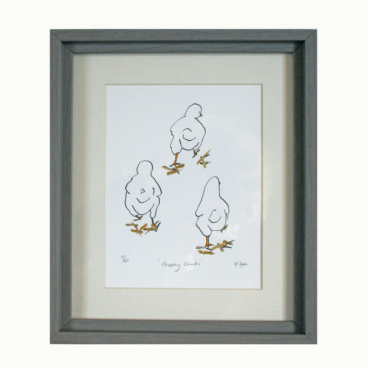Cheeky Chicks Print with straw