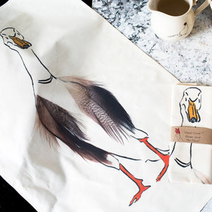 Runner Duck Tea Towel
