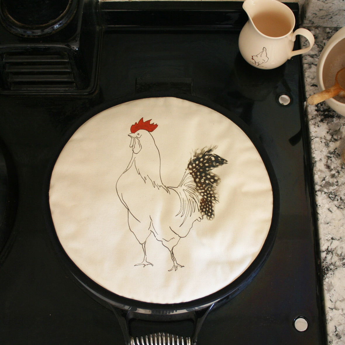 Cockerel Edward Circular hob Cover Aga pad