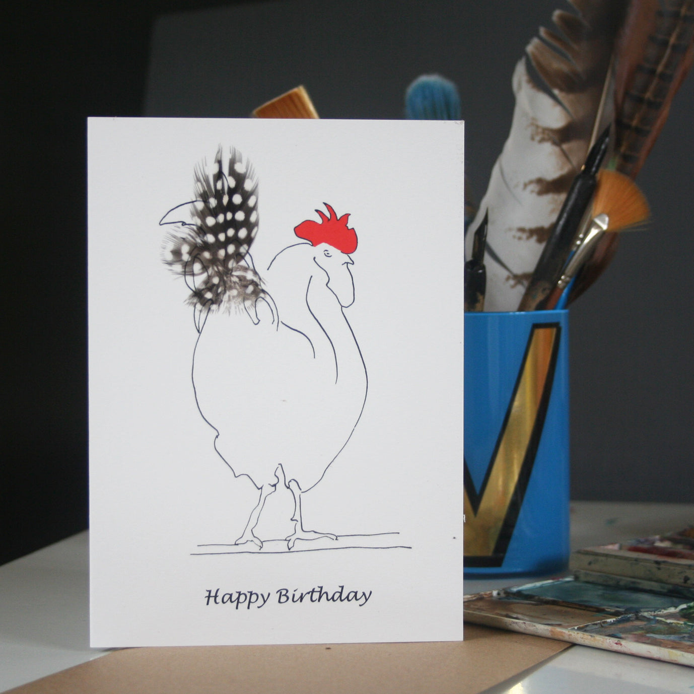 Herk Cockerel Card