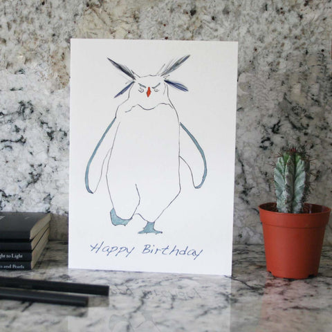 Rockhopper birthay card with feathers from Cluck Cluck