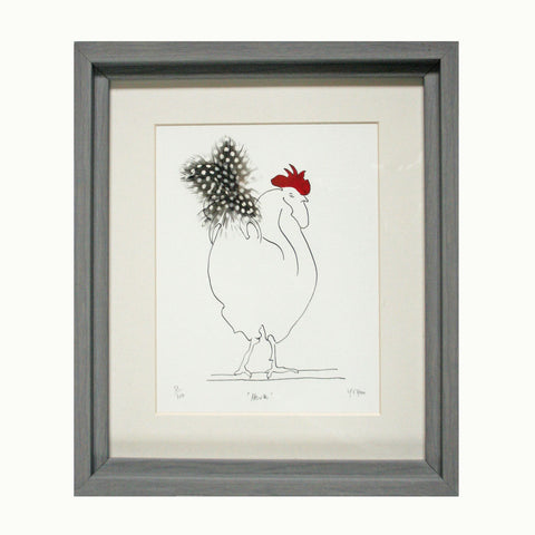 Herk Cockerel Spotty Feathered Print