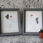 Load image into Gallery viewer, Herk Cockerel Mini Print