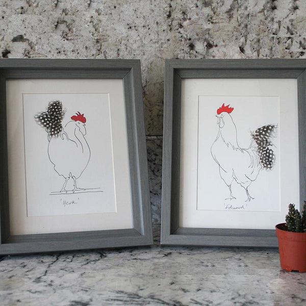 Herk Cockerel Mini Print