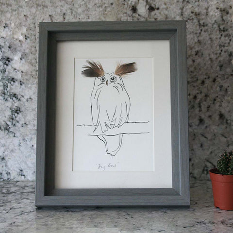 Owl Big ears Mini print