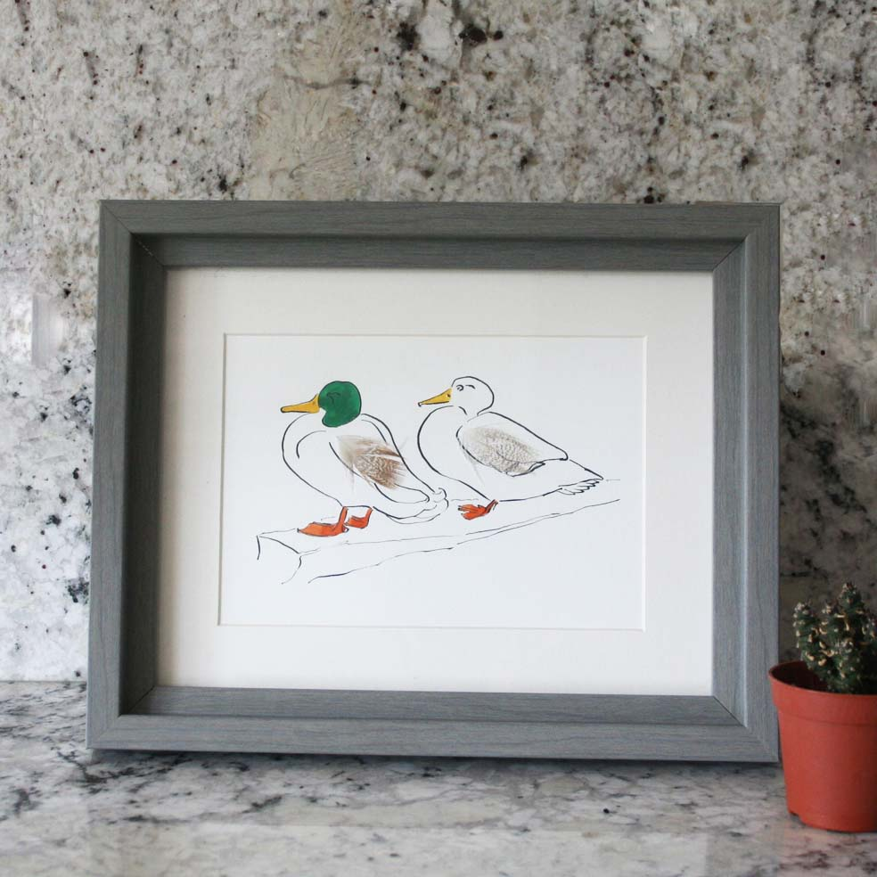 Mr & Mrs Duck Mini Print