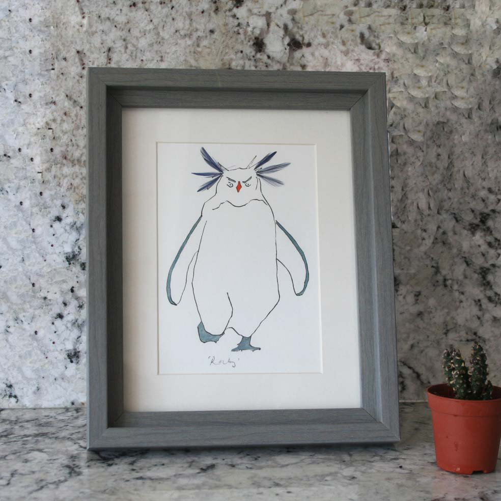 Rockhopper Penguin mini print