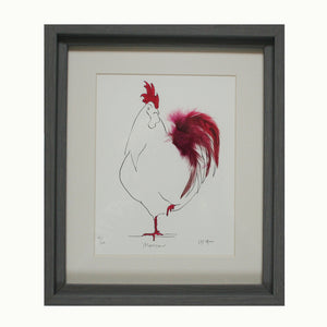Monsieur Cassis Feathered Print