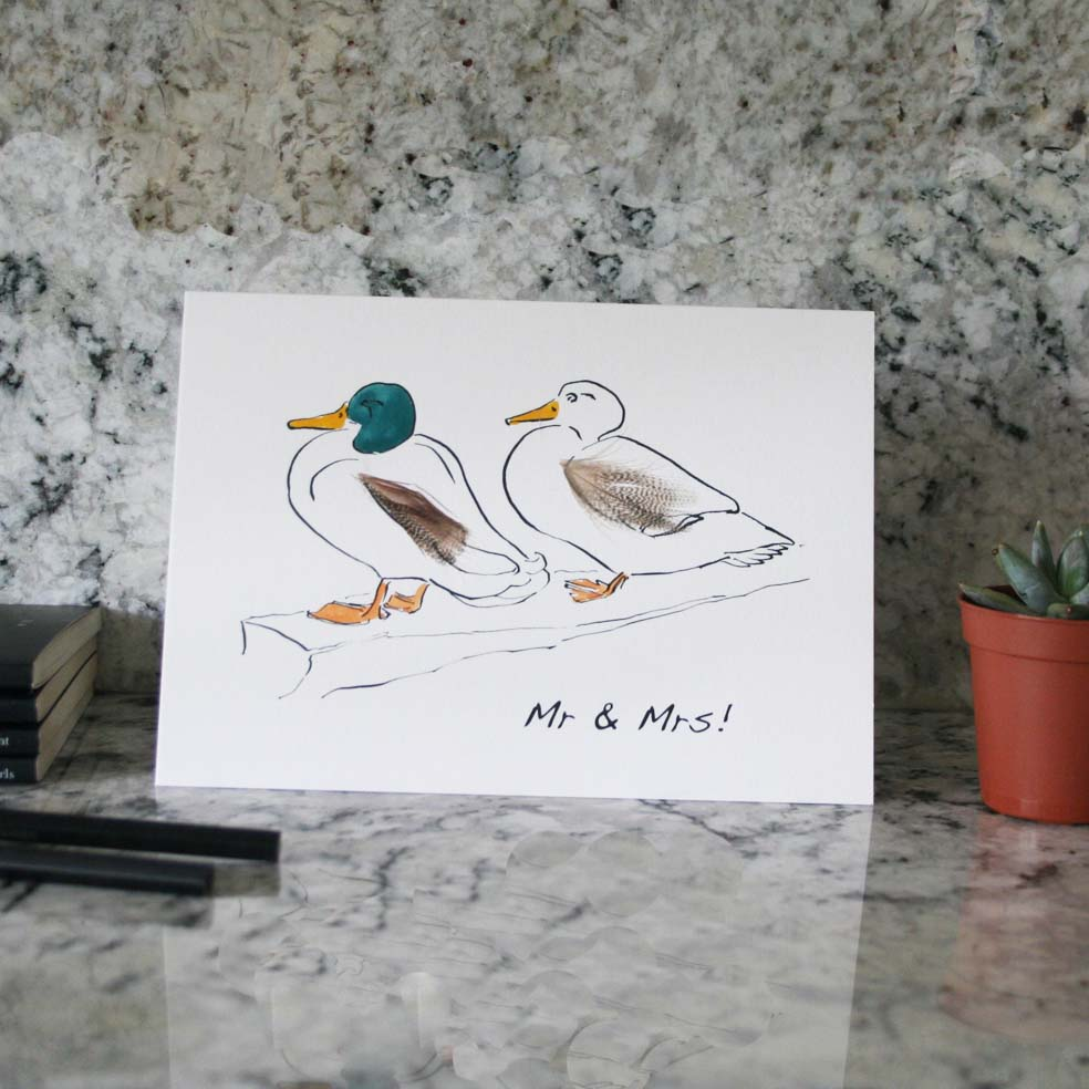 Duck Wedding Cards