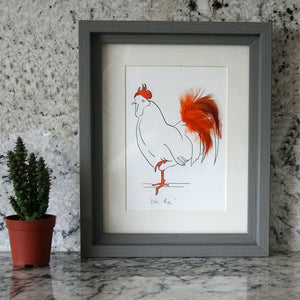 Oh Me! Cockerel Mini Print