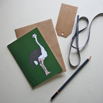 Load image into Gallery viewer, Ostrich Green Card