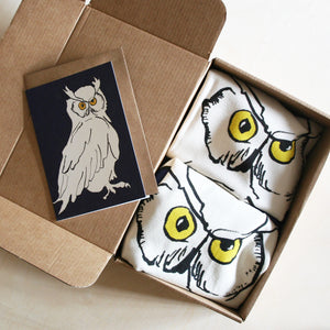 Owl Apron & Tea Towel Gift boxes with card