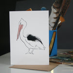 Load image into Gallery viewer, Pelican Real Feather Cards