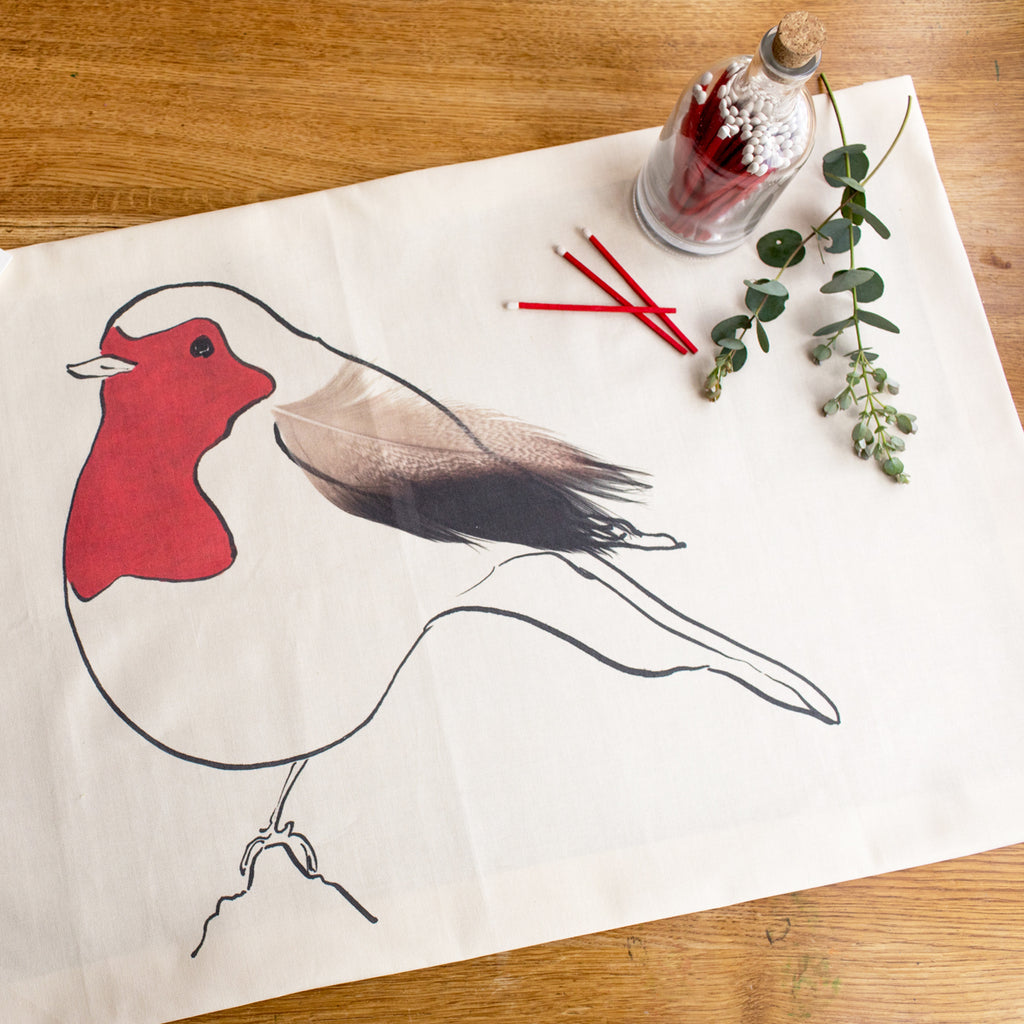 Robin Tea Towel from Cluck Cluck