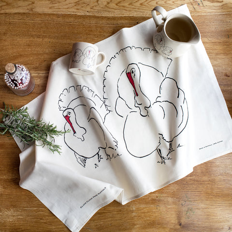 Turkey Tea towel from Cluck Cluck!