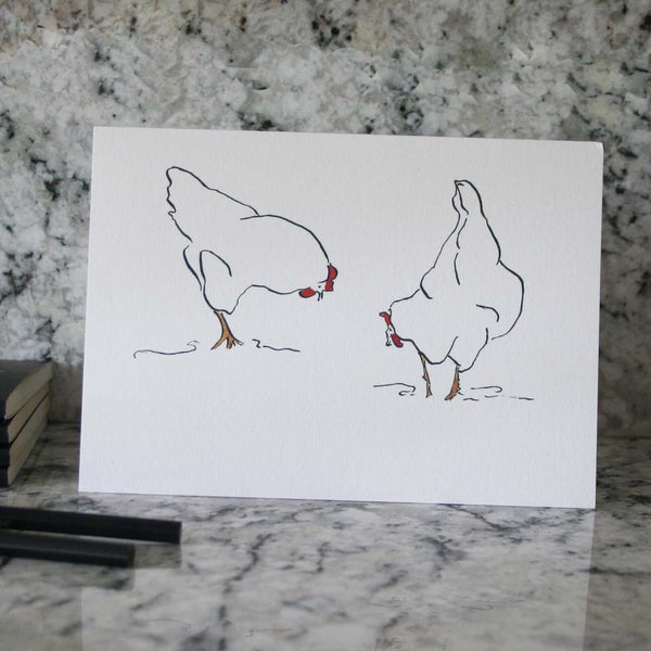 Hens om a card from Cluck Cluck