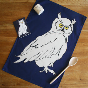 Owl Colour Tea Towel