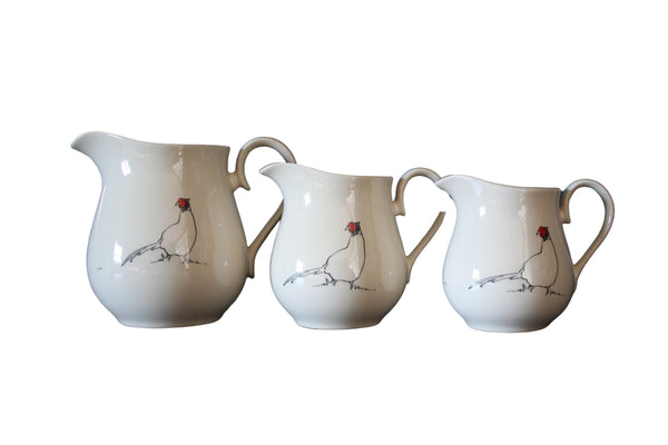 Pheasant jug in cream from Cluck Cluck!